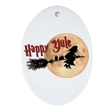 Happy Yule Ornament (Oval)