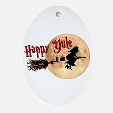 Happy Yule Ornament (Oval)