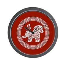 2014 Chinese Year of the Horse Wall Clock