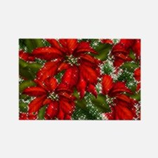 SPARKLING POINSETTIAS Rectangle Magnet