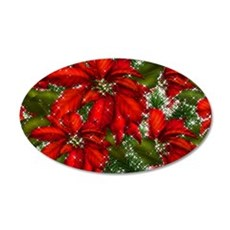 SPARKLING POINSETTIAS Wall Decal