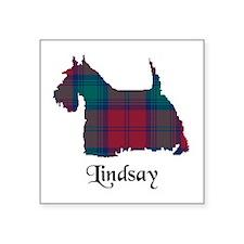 "Terrier - Lindsay Square Sticker 3"" x 3"""