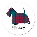 Terrier - Lindsay Round Car Magnet