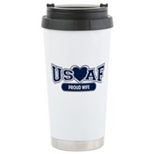Air Force Wife Stainless Steel Travel Mug