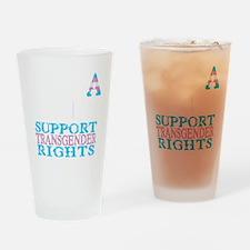 ENDA-HATE-2-BLK Drinking Glass