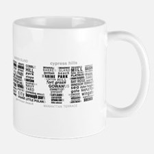 Brooklyn NYC Typographic Art Mugs