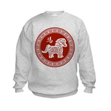 Red chinese horse with ornate frame large Sweatshi