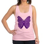 Butterfly GIST Cancer Ribbon Racerback Tank Top