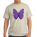 Butterfly GIST Cancer Ribbon Light T-Shirt