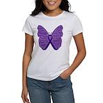 Butterfly GIST Cancer Ribbon Women's T-Shirt