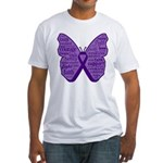 Butterfly GIST Cancer Ribbon Fitted T-Shirt