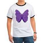 Butterfly GIST Cancer Ribbon Ringer T
