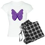 Butterfly GIST Cancer Ribbon Women's Light Pajamas