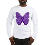 Butterfly GIST Cancer Ribbon Long Sleeve T-Shirt