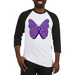 Butterfly GIST Cancer Ribbon Baseball Jersey