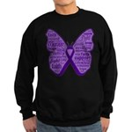 Butterfly GIST Cancer Ribbon Sweatshirt (dark)