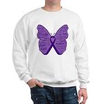 Butterfly GIST Cancer Ribbon Sweatshirt