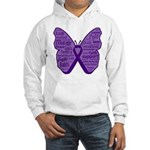 Butterfly GIST Cancer Ribbon Hooded Sweatshirt