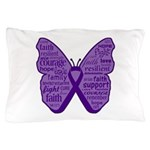 Butterfly GIST Cancer Ribbon Pillow Case