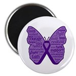 Butterfly GIST Cancer Ribbon 2.25