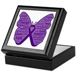 Butterfly GIST Cancer Ribbon Keepsake Box