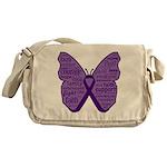 Butterfly GIST Cancer Ribbon Messenger Bag