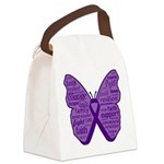 Butterfly GIST Cancer Ribbon Canvas Lunch Bag