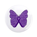 Butterfly GIST Cancer Ribbon 3.5