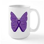 Butterfly GIST Cancer Ribbon Large Mug