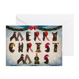 Dachshund christmas Greeting Cards (10 Pack)