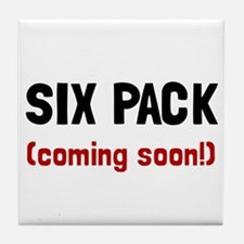 Six Pack Coming Tile Coaster