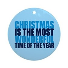 Wonderful Christmas Ornament (Round)