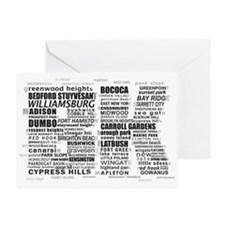 Brooklyn BK Text Art Greeting Cards