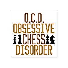 """obsessivechessdisorder Square Sticker 3"""" x 3"""""""