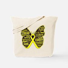 Butterfly Ewing Sarcoma Ribbon Tote Bag