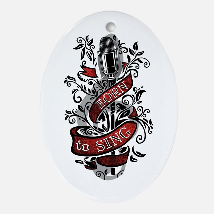 Born to Sing Ornament (Oval)