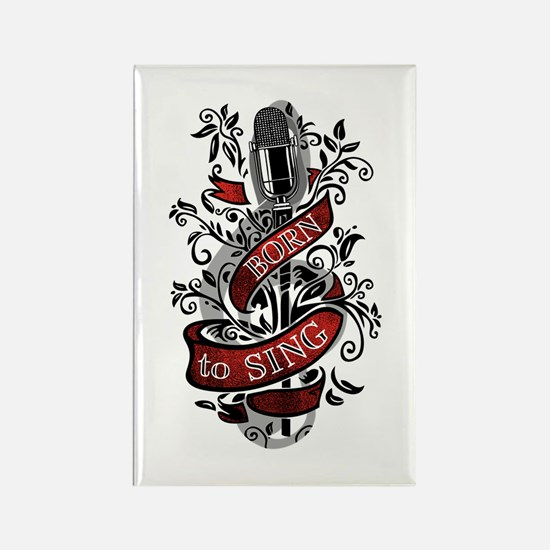 Born to Sing Rectangle Magnet (10 pack)