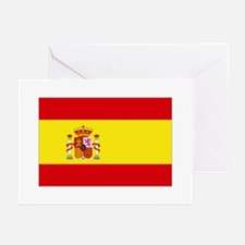 Spain National flag Greeting Cards (Pk of 10)