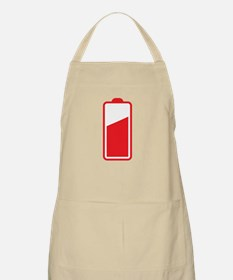 Half Cell phone Battery red Apron