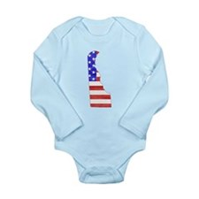 Delaware Flag Long Sleeve Infant Bodysuit