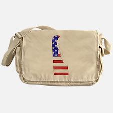 Delaware Flag Messenger Bag