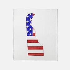 Delaware Flag Throw Blanket