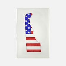 Delaware Flag Rectangle Magnet