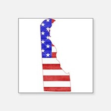 "Delaware Flag Square Sticker 3"" x 3"""