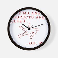 Homicide 3 Wall Clock