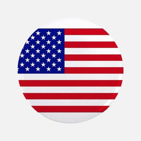 "American Flag Pin 3.5"" Button"