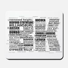 Brooklyn BK Text Art Mousepad