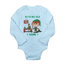 Personalize Future Christmas Elf Long Sleeve Infan