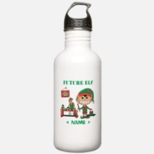 Personalize Future Christmas Elf Water Bottle