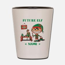 Personalize Future Christmas Elf Shot Glass